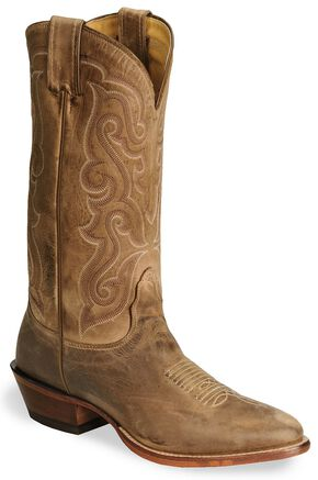 Nocona Legacy Series Vintage Cowboy Boots - Medium Toe, Tan, hi-res