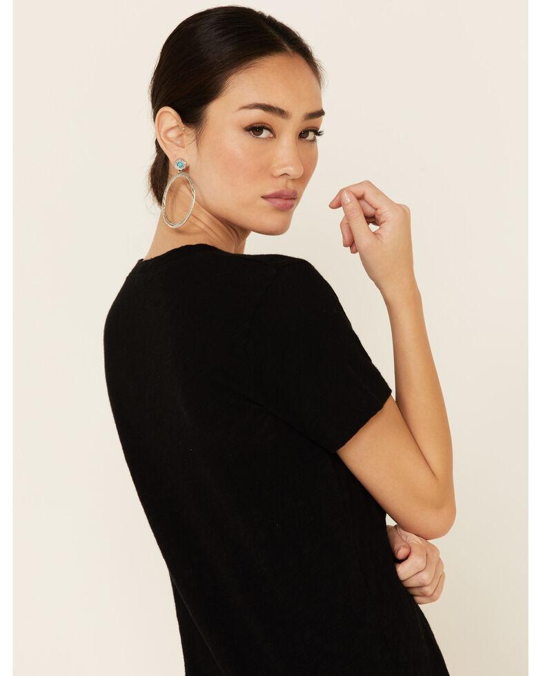 Revel Women's Let Love In Graphic Slub Short Sleeve Tee , Black, hi-res
