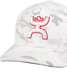 HOOey Men's White Camo Chris Kyle Flex Fit Ball Cap , White, hi-res