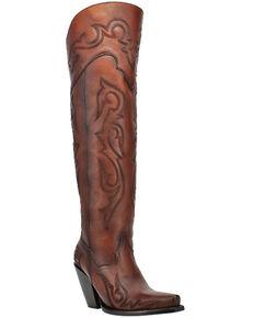 Dan Post Women's Seductress Western Boots - Snip Toe, Brown, hi-res