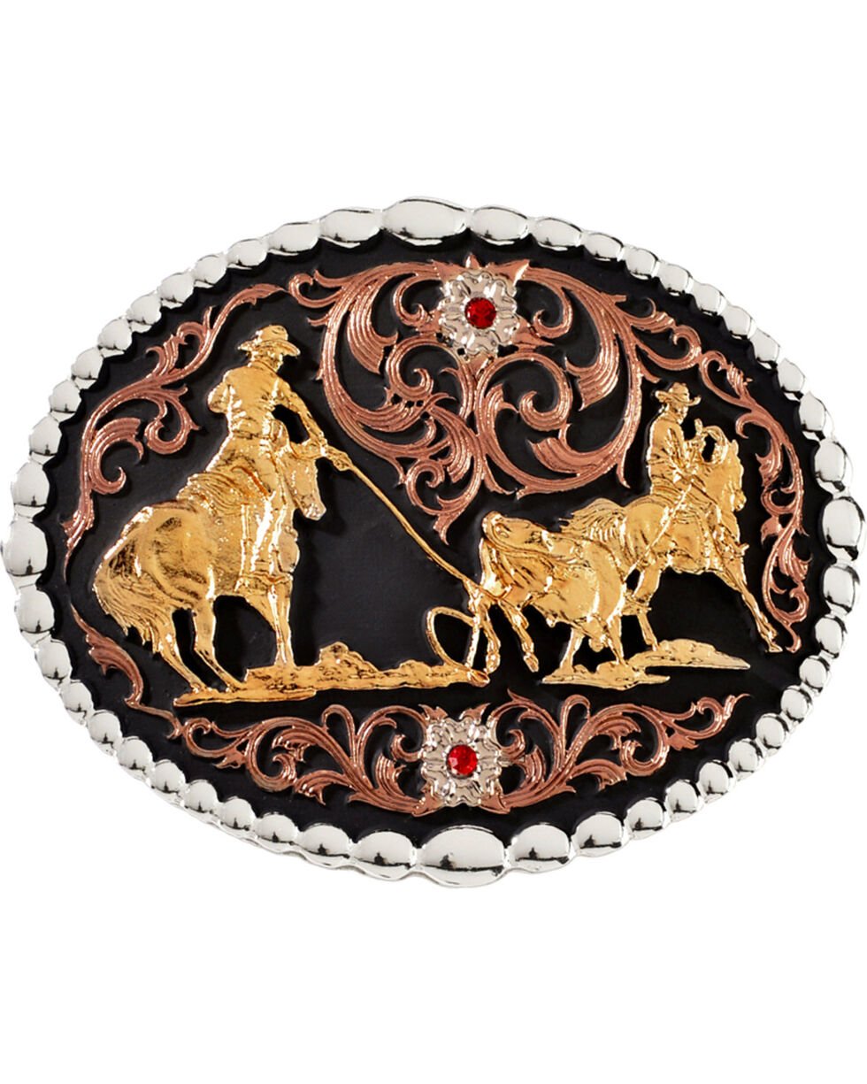 Montana Silversmiths Roper Buckle, Silver, hi-res