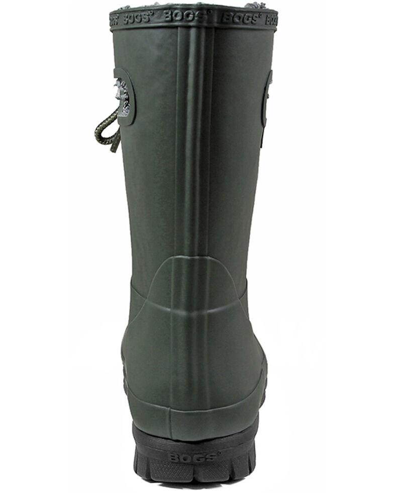 Bogs Women's Green Amanda Plush Insulated Work Boots - Round Toe, Dark Green, hi-res