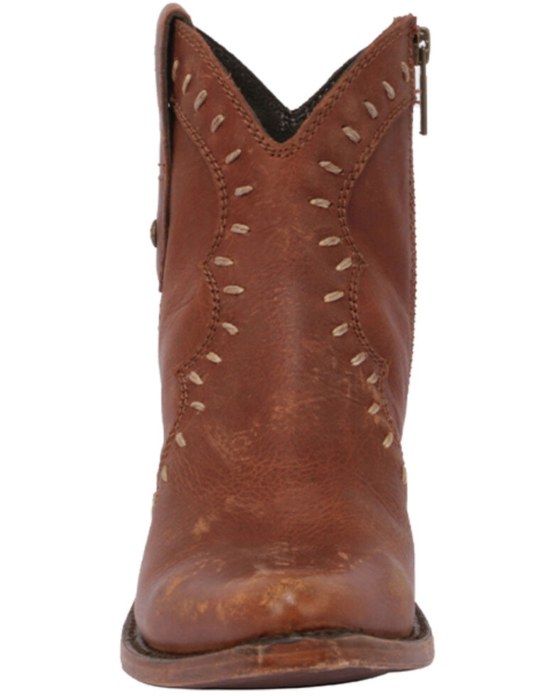 Liberty Black Women's Keeper Brown Fashion Booties - Round Toe, Brown, hi-res