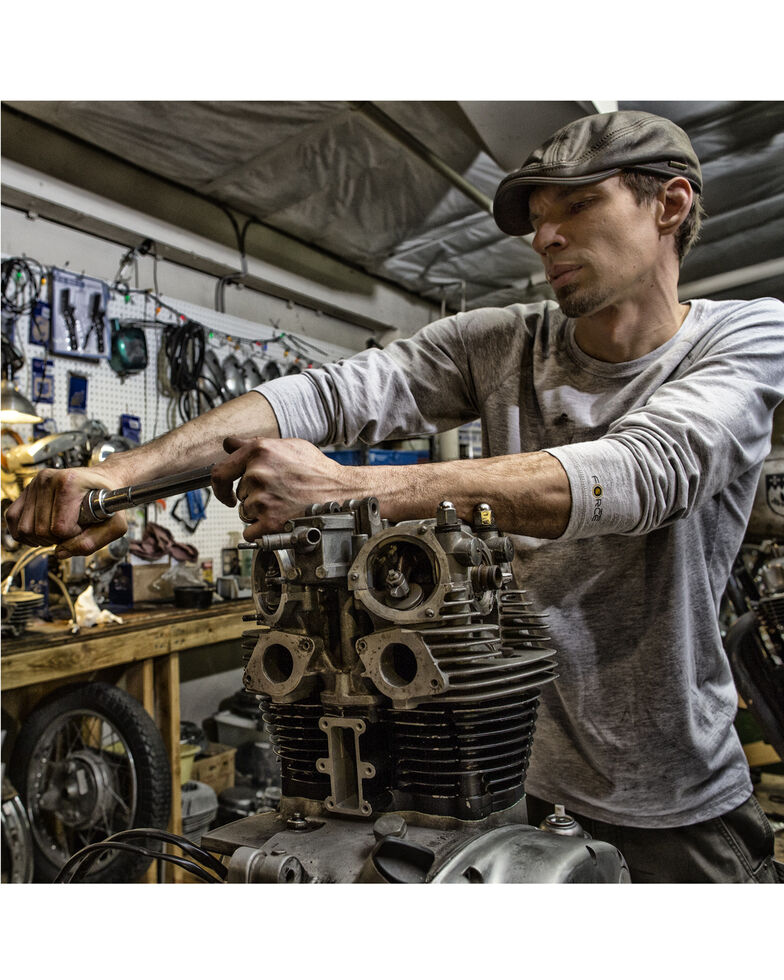 Carhartt Men's Solid Force Long Sleeve Work Shirt, Grey, hi-res