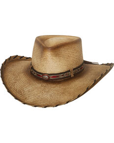 Bullhide Men's Natural Good Company Straw Cowboy Hat , Natural, hi-res
