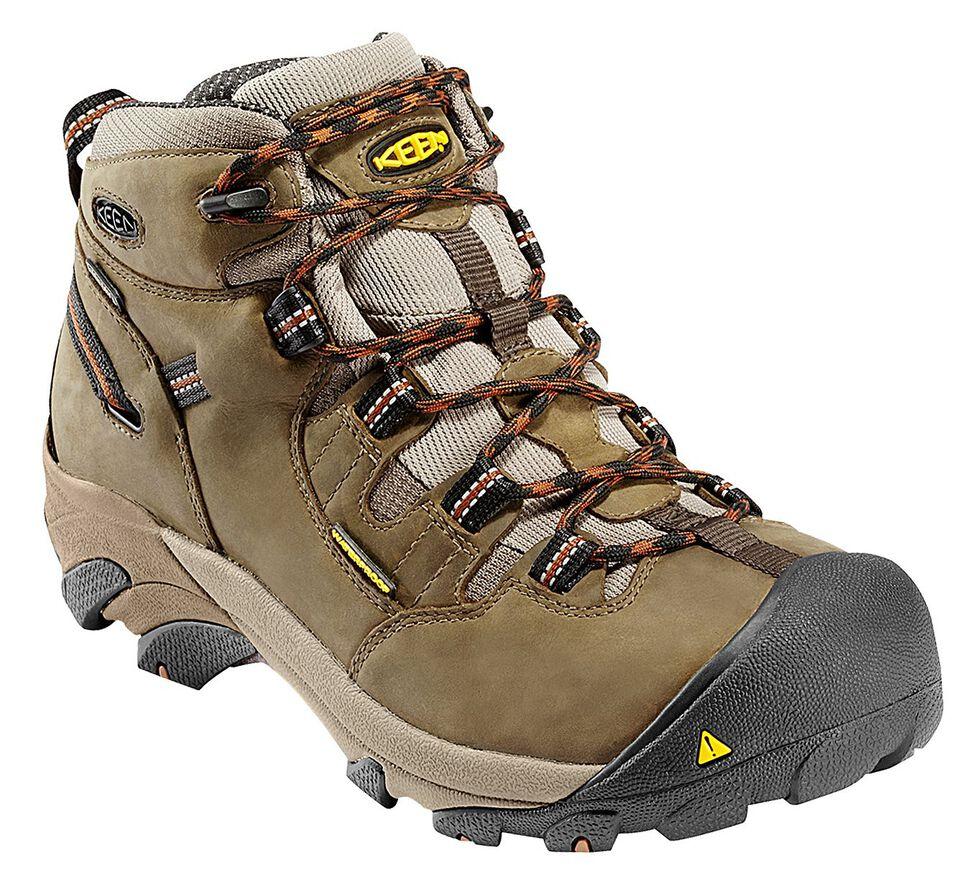 Keen Men's Detroit Mid Boots - Round Toe, Olive, hi-res