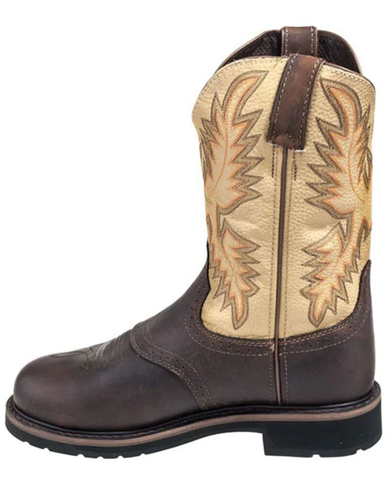 Justin Men's Superintendent Western Work Boots - Steel Toe, Brown, hi-res