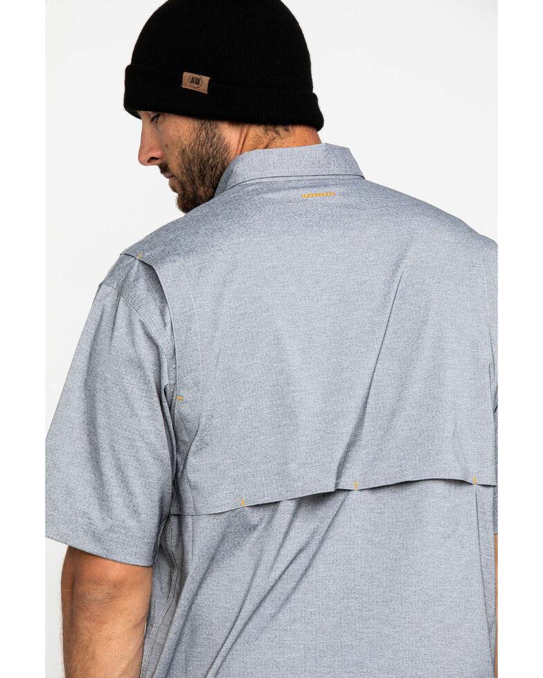 Ariat Men's Grey Rebar Made Tough Durastretch Vent Short Sleeve Work Shirt - Tall , Heather Grey, hi-res