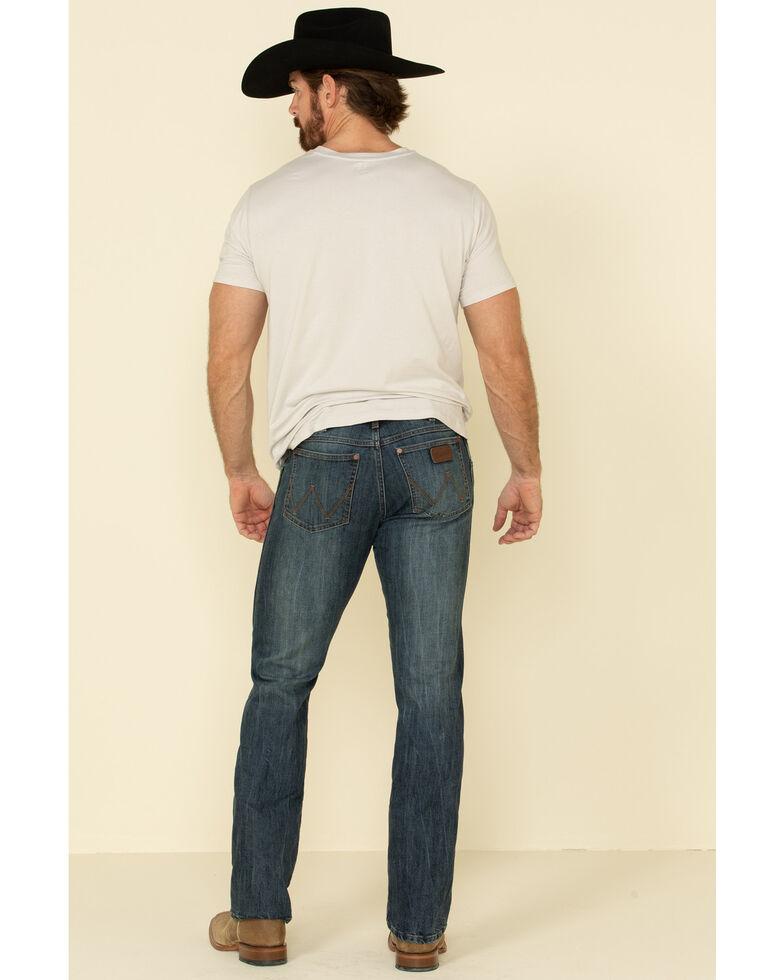Wrangler Retro Men's Straw Stretch Slim Straight Jeans , Blue, hi-res