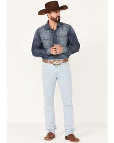 Wrangler Men's Active Flex Bleach Light Wash Slim Fit Cowboy Cut Jeans , Blue, hi-res