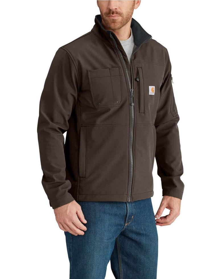 Carhartt Men's Navy Rough Cut Jacket, Dark Brown, hi-res