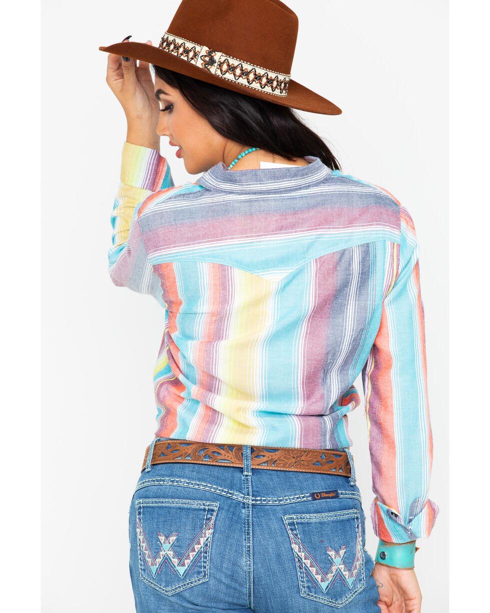 Panhandle Women's Serape Button Up Long Sleeve Shirt, Multi, hi-res
