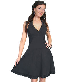 Scully Peruvian Cotton Halter Top Dress, Black, hi-res