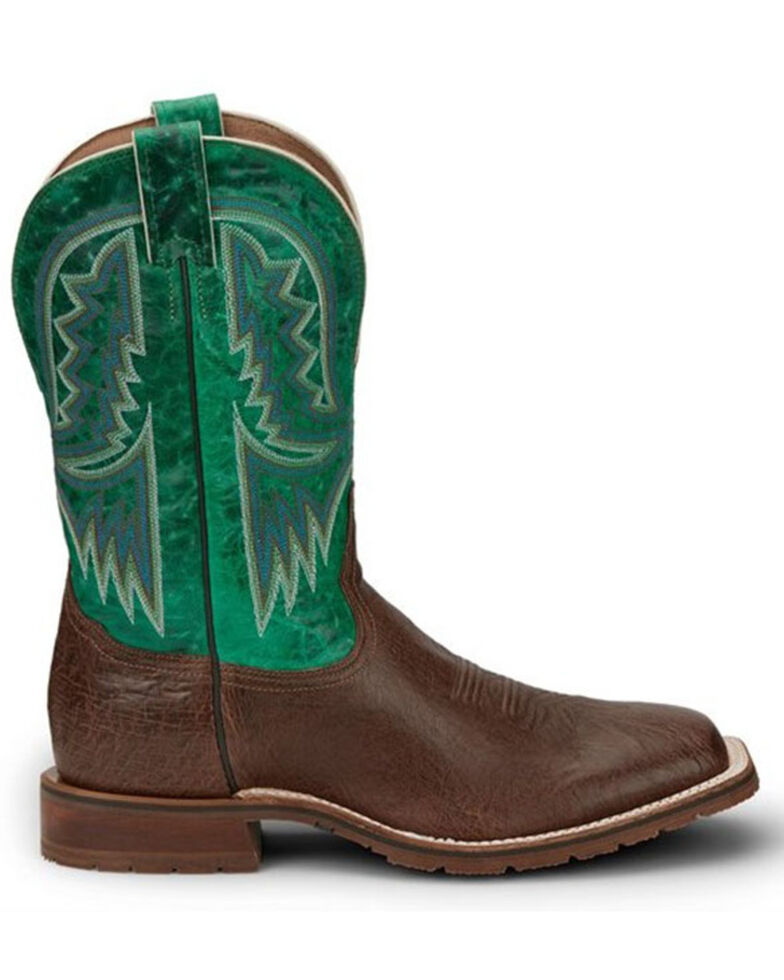 Tony Lama Men's Campbell Western Boots - Wide Square Toe, Chocolate, hi-res