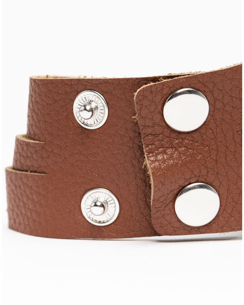 Shyanne Women's Hidden Treasure Stretch Tassel Snap Bracelet Set, Silver, hi-res