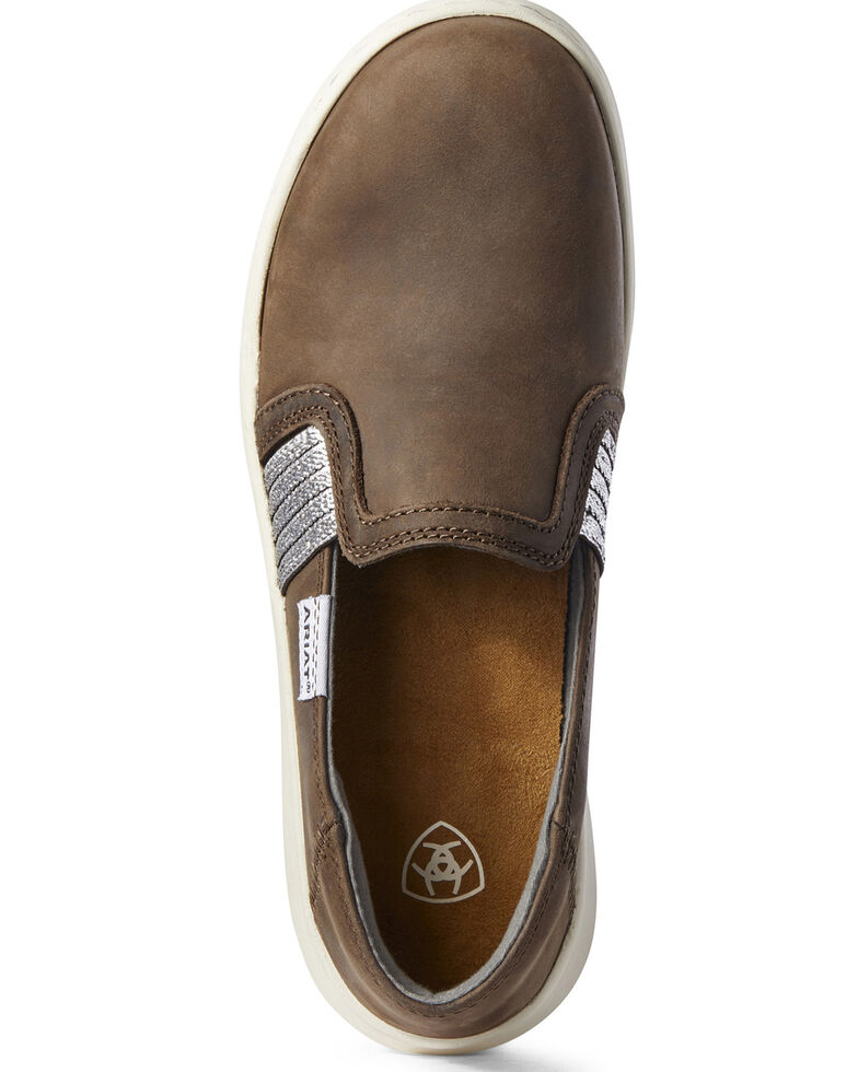Ariat Women's Brown Ryder Shoes - Round Toe, Brown, hi-res