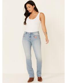 Driftwood Women's Flower Power Flare Leg Jeans, Blue, hi-res