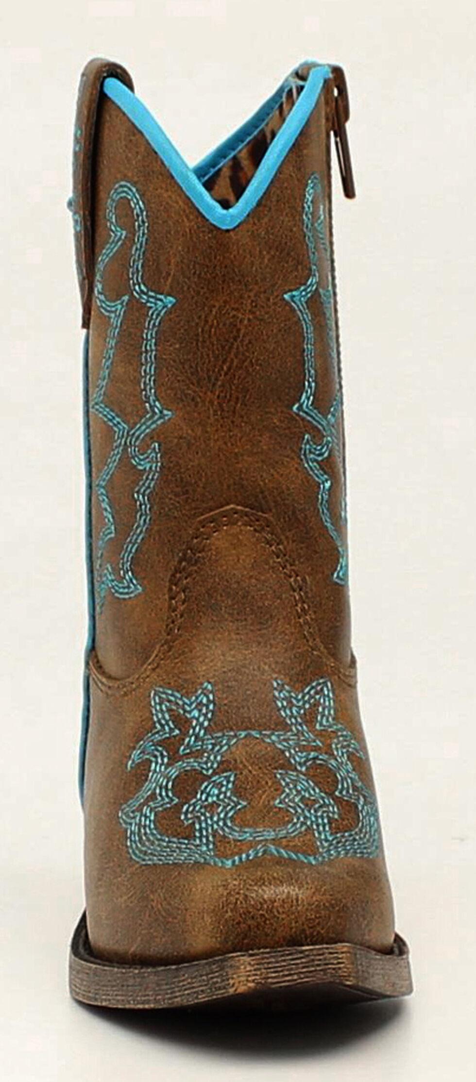 Blazin Roxx Toddler Girls' Caroline Cowgirl Boots - Snip Toe, Brown, hi-res