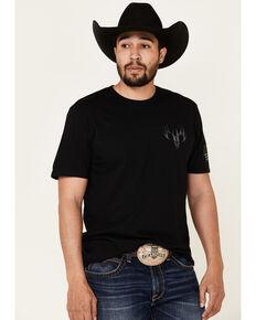 Buck Wear Men's Black Fundamentals Flag Graphic T-Shirt , Black, hi-res