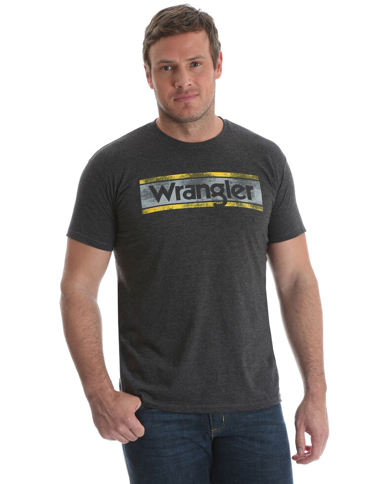 Wrangler Men's Charcoal Logo Graphic T-Shirt , , hi-res