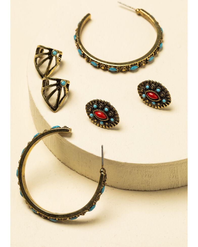 Idyllwind Women's Get In Line Earrings Set, Bronze, hi-res