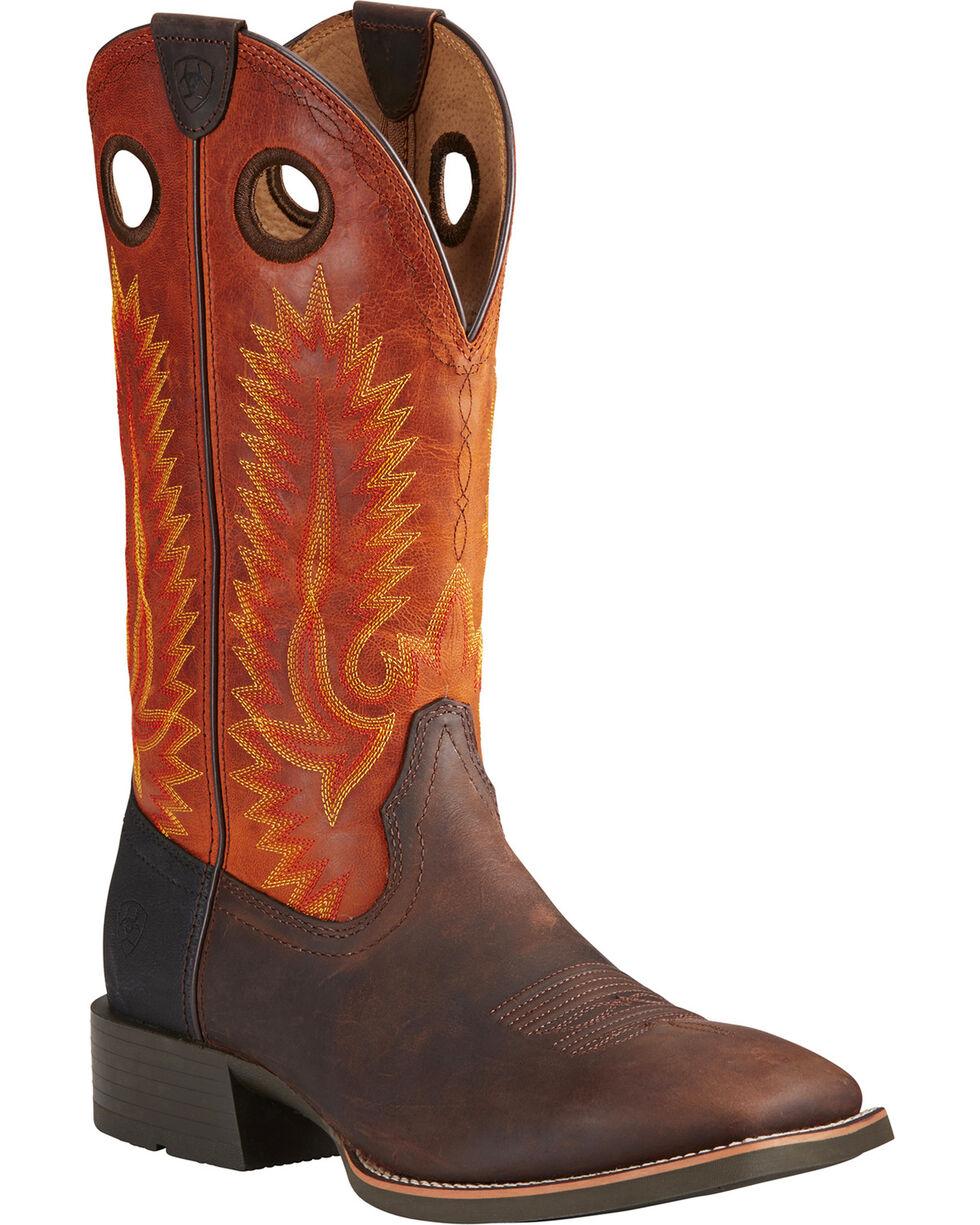 Ariat Men's Heritage High Plains Cowboy Boots - Square Toe, Brown, hi-res