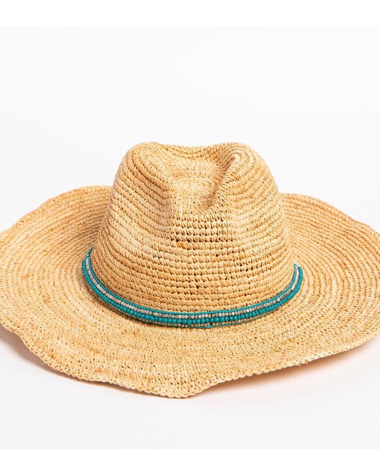 ále by Alessandra Women's Cody Beaded Band Crochet Raffia Hat, , hi-res