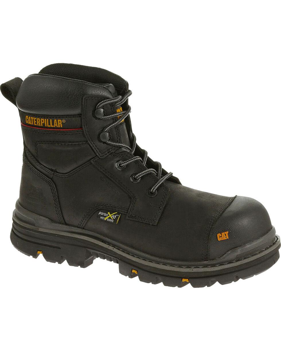 """Caterpillar Men's Rasp 6"""" Waterproof Work Boots - Composite Toe , Black, hi-res"""
