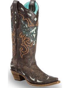 f5f19c8d0692 Corral Women s Glittery Inlay and Embroidery Western Boots - Snip Toe
