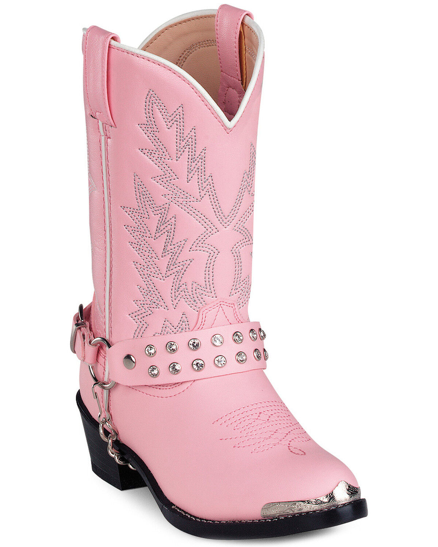 Durango Girls' Pink Cowgirl Boots