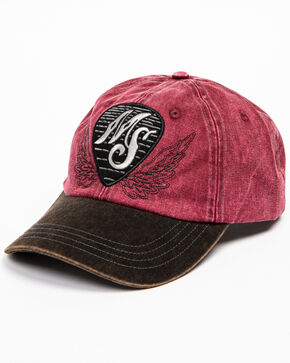 Moonshine Spirit Men's Guitar Pick Baseball Cap, Burgundy, hi-res