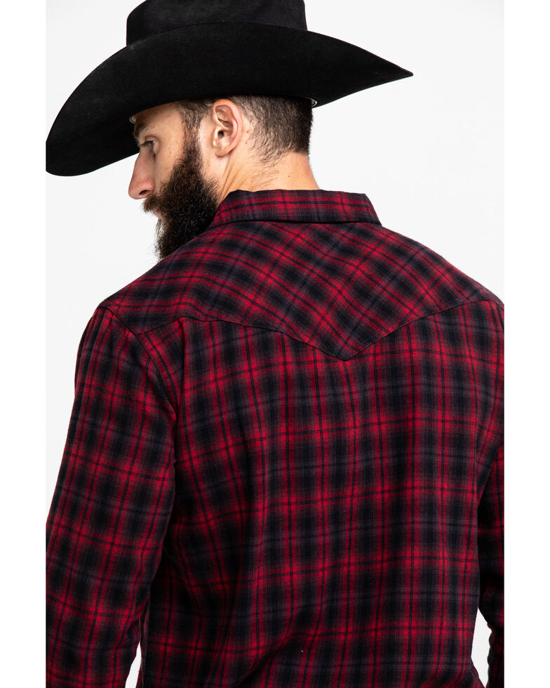 Cody James Men's Christmas Plaid Long Sleeve Western Flannel Shirt , Red, hi-res