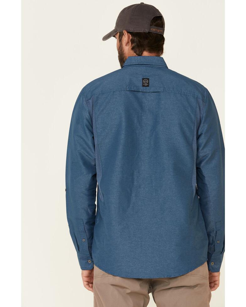 ATG™ by Wrangler Men's All-Terrain Dark Denim Mix Material Utility Long Sleeve Western Shirt , Multi, hi-res