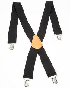 Hawx Men's Black Work Suspenders, Black, hi-res