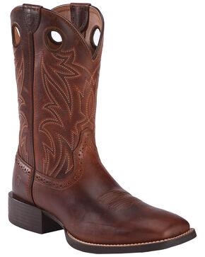 Ariat Sport Men's Sidebet Performance Cowboy Boots - Square Toe, Brown, hi-res