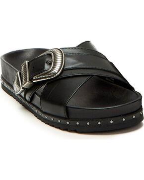 Frye Women's Lily Black Western Criss Cross Sandals, Black, hi-res