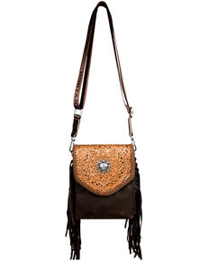 Montana West Women's Shiloh Aztec Crossbody Bag, Brown, hi-res