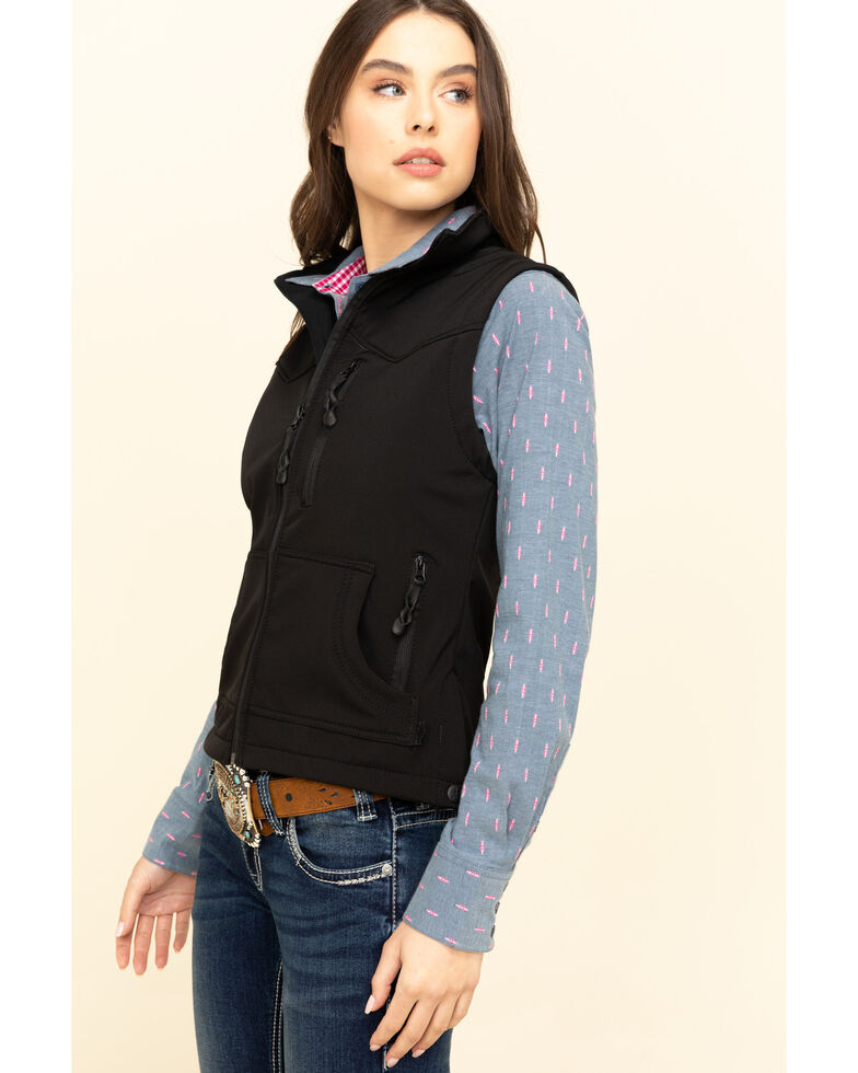 STS Ranchwear Women's Barrier Zip Vest , Black, hi-res