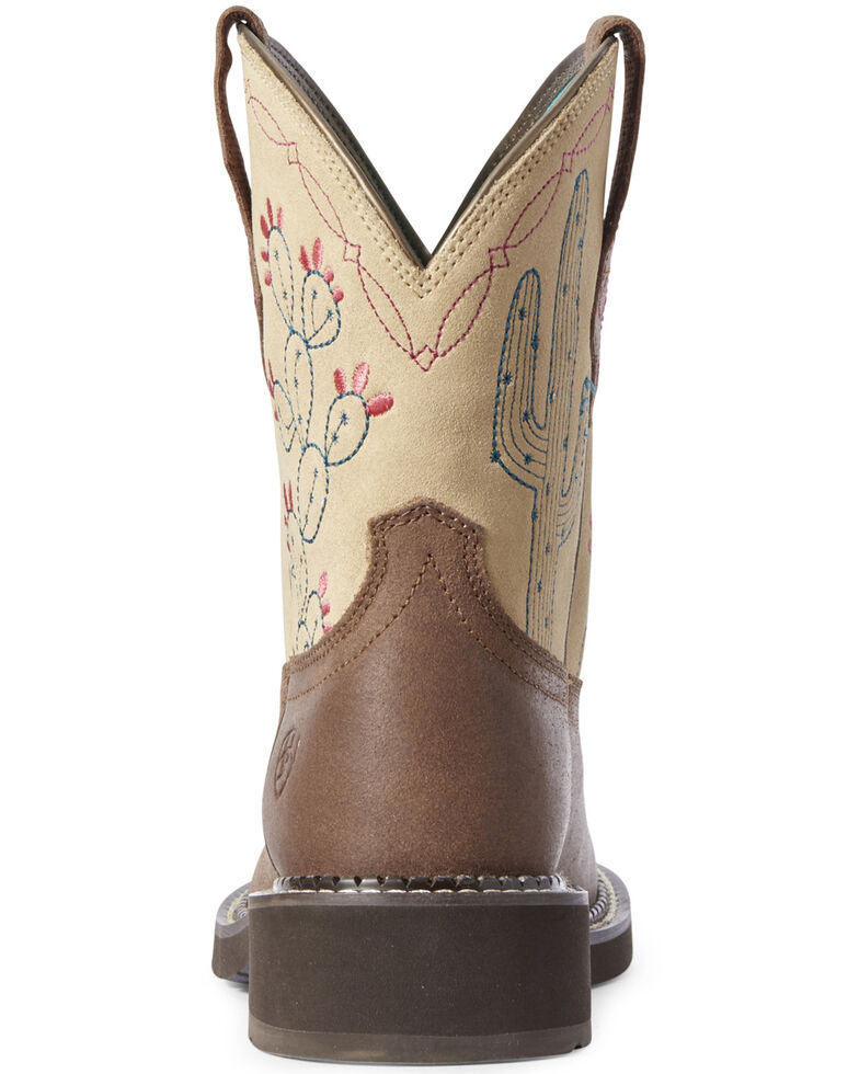 Ariat Women's Heritage Desert Fatbaby Western Boots - Round Toe, Brown, hi-res