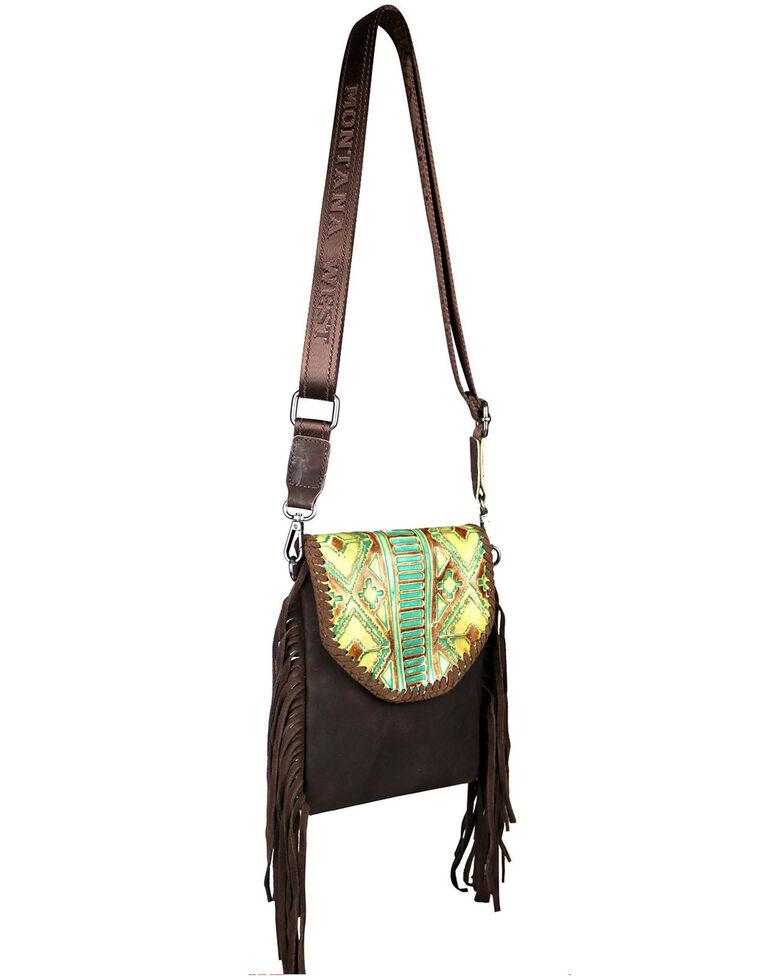 Montana West Women's Ellie Embossed Crossbody Bag, Coffee, hi-res