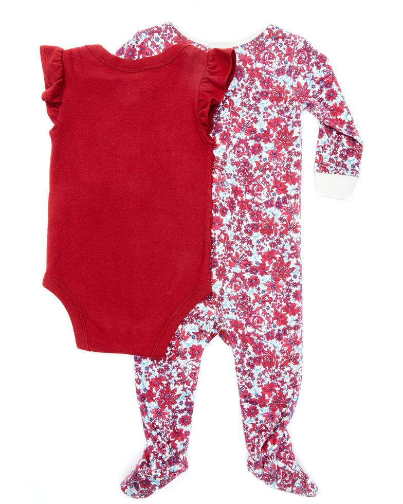 Shyanne Infant Girls'  Red Rodeo Princess Print Onesie Sleepwear Set , Red, hi-res