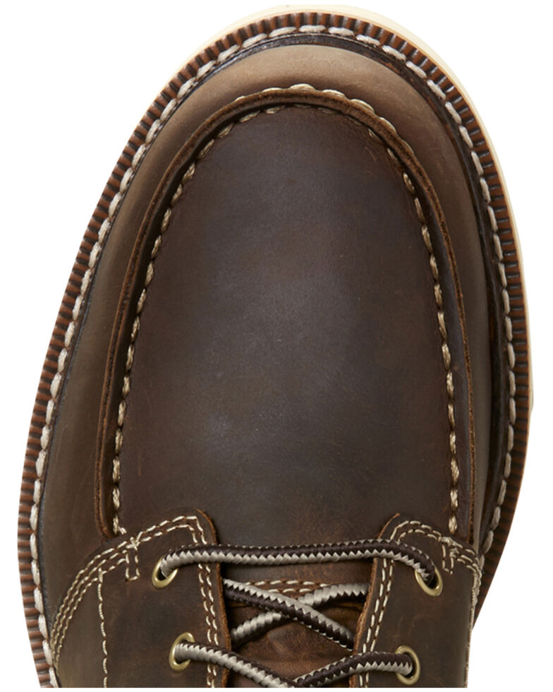 Ariat Men's Brewed Barley Recon Lace-Up Boots - Moc Toe, Brown, hi-res
