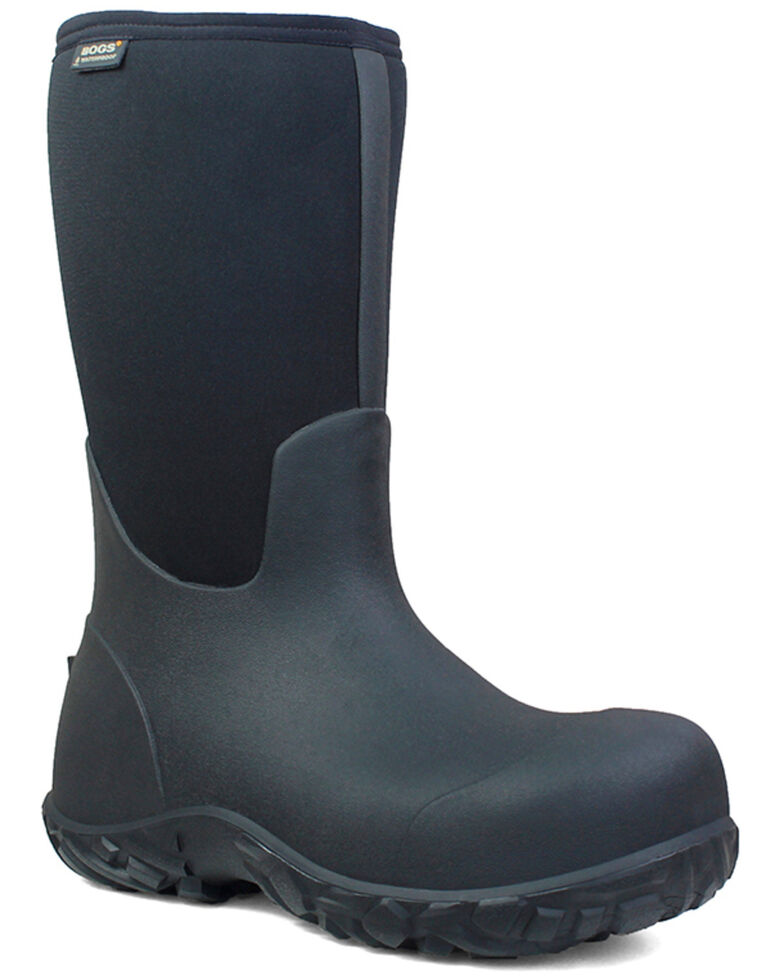 Bogs Men's Workman Insulated Work Boots - Round Toe, Black, hi-res