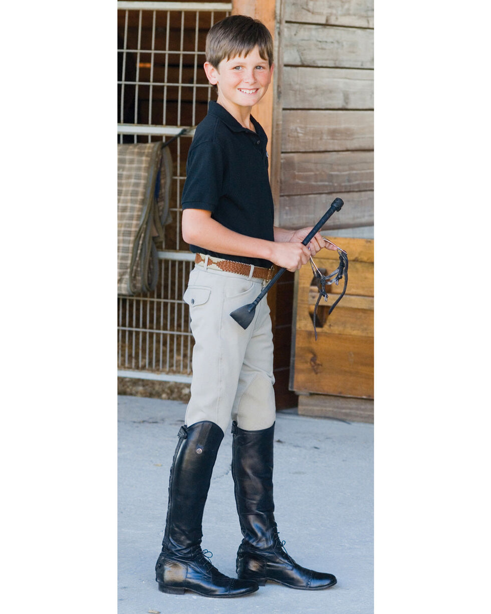Ovation Boys' Euroweave Four Pocket Breeches, Beige, hi-res