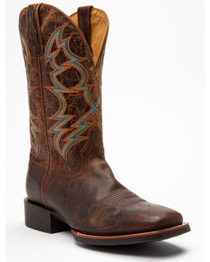 Cody James Men's Suntan Zulu Western Boots - Square Toe, Tan, hi-res