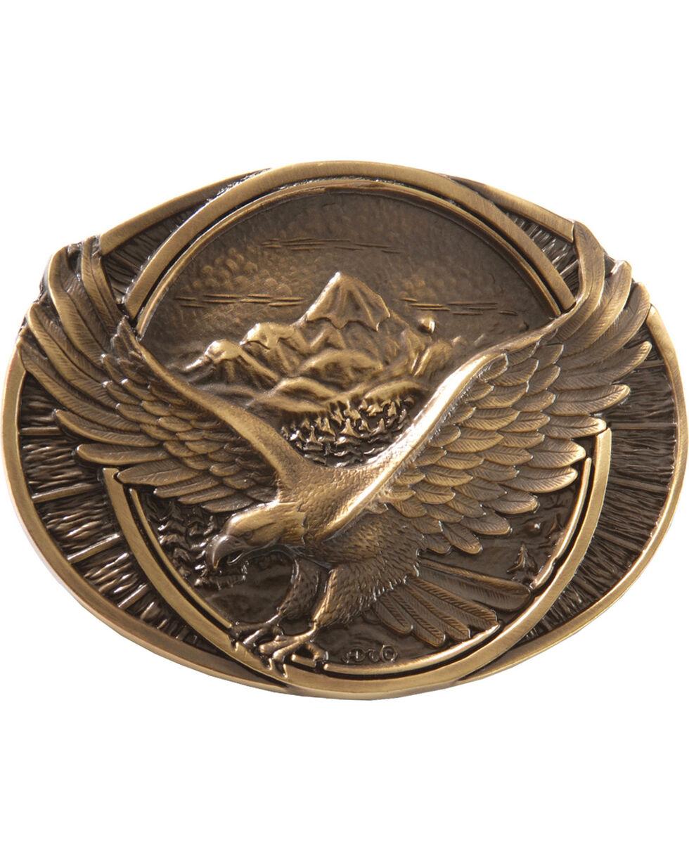 Montana Silversmiths Soaring Eagle Buckle, Brass, hi-res