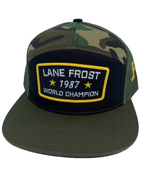 Lane Frost Men's Rifle Military Camo Ball Cap , Camouflage, hi-res
