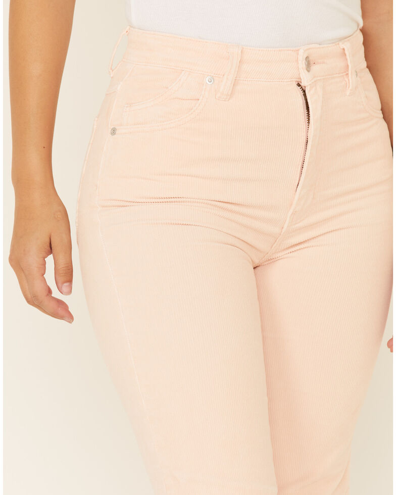 Rolla's Women's Pink Eastcoast Corduroy Flare Jeans, Light Pink, hi-res