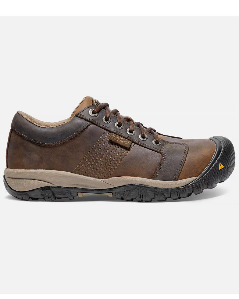 Keen Men's La Conner ESD Work Shoes - Aluminum Toe, Brown, hi-res