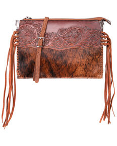 Montana West Hand Tooled Crossbody Bag, Brown, hi-res